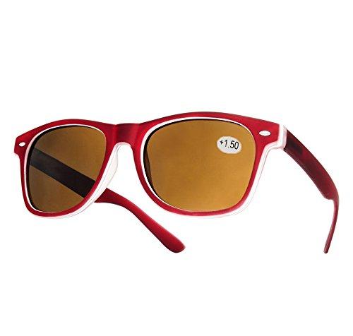 morefaz Nieuwe dames heren +1.5 zonneleesbril Vinatge Retro tegen zonlicht in de zon om te lezen bril (TM)