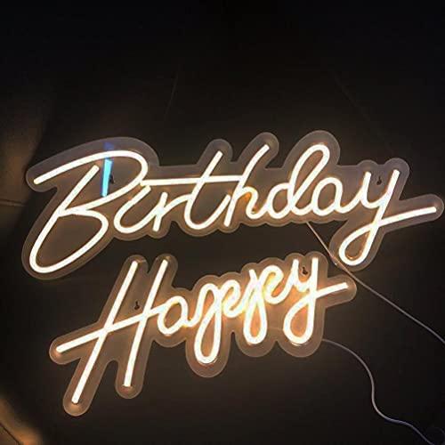 Letrero de neón con luz LED regulable reutilizable para decoración de fiestas de cumpleaños, habitación o dormitorio