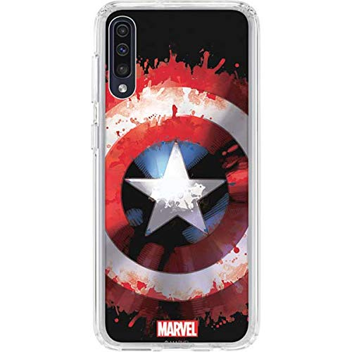 Skinit Clear Phone Case for Galaxy A50 - Officially Licensed Marvel/Disney Captain America Shield Design
