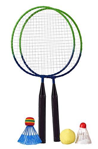 Haberkorn Federball Badminton Set für Kinder 2 STK mit großen Köpfen kleine Schläger