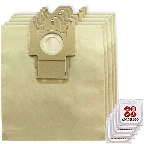 Spares2go Staubsaugerbeutel für Miele S200 Serie Staubsauger (5 Stück) + Lufterfrischertabs