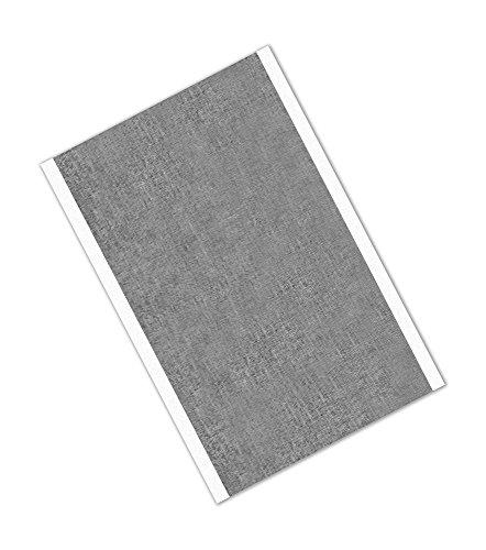 TapeCase 421 - Cinta adhesiva de plomo y caucho de color plateado oscuro, 7,6 cm x 12,7 cm - 25 cm, convertida de 3 m 421, 60 – 225 grados F temperatura de rendimiento, 0,0063 cm de grosor, 5 cm de largo, 3 cm de ancho, rectangulares (paquete de 25)