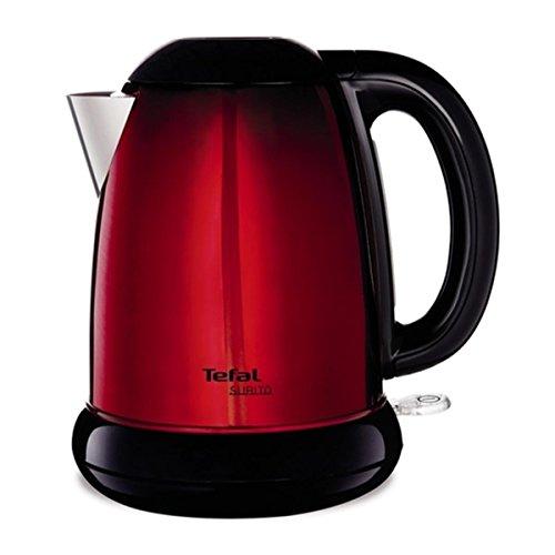 Tefal KI1605 - Tetera eléctrica (1,7 L, Negro, Rojo, Acero inoxidable, 2400...
