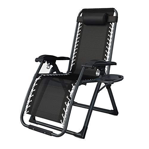 AWJ Silla portátil de Gravedad Cero, Silla Plegable para Piscina con césped para Patio y reposacabezas, sillón reclinable, Soporte 330lb