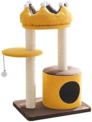 HLZY Cat Tower Popular Cat Toy Cat Trees and Towers Cat Castle Toys, Cat Climbing Frame Comfortable Pet Activity Centre Imperial Crown Shape Cat Tree Tower Four Seasons Universal Pet Furniture