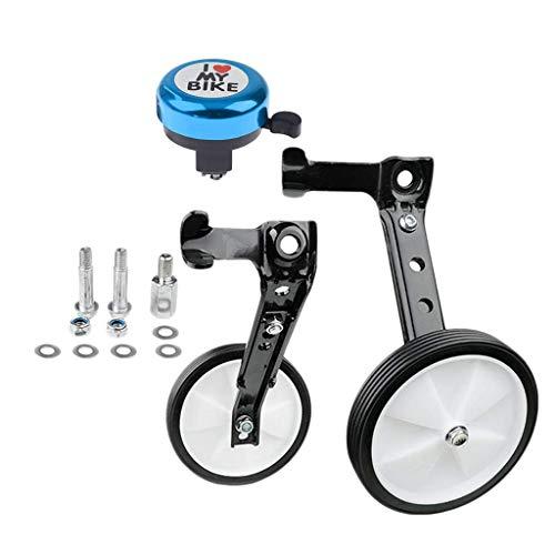 Estabilizador de rueda de entrenamiento de bicicleta infantil de acero Ruedas de seguridad Cuerno de campana de aleación