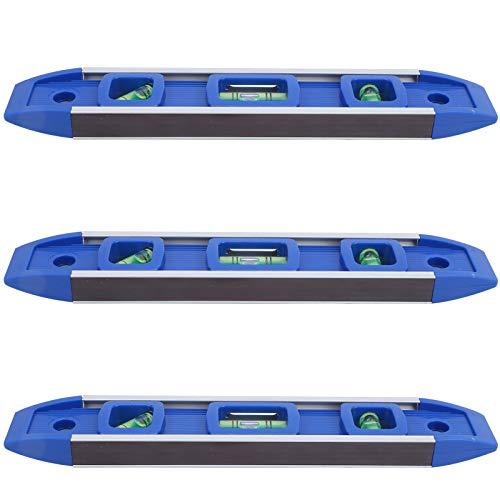 Qqmora 3 Juegos de Nivel de medición Nivel de Burbuja portátil 3 plomada de Burbuja 230 mm Ligero, para técnicos, electricistas para Hacer Marcas en interruptores, enchufes, Cajas integradas