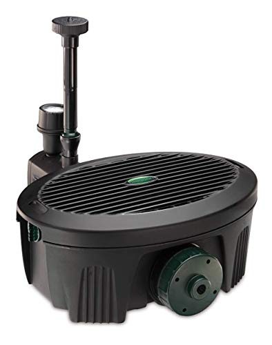 Pennington Aquagarden , Inpond 5 in 1, Pond & Water Pump, Filter, UV Clarifier, LED Spotlight and Fountain , All in One solution for a Clean, Clear and Beautiful pond , For Ponds up to 200 Gallons
