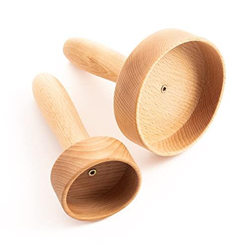 tuuli Accessories Maderotherapie Holz Klein Set Massagegerät Saugglocke Cellulite Lymphdrainage Gerät