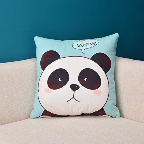 Mazu Homee Funda de cojín de sofá de 40 x 40 cm, mezcla de algodón, relleno cuadrado de fibra hueca