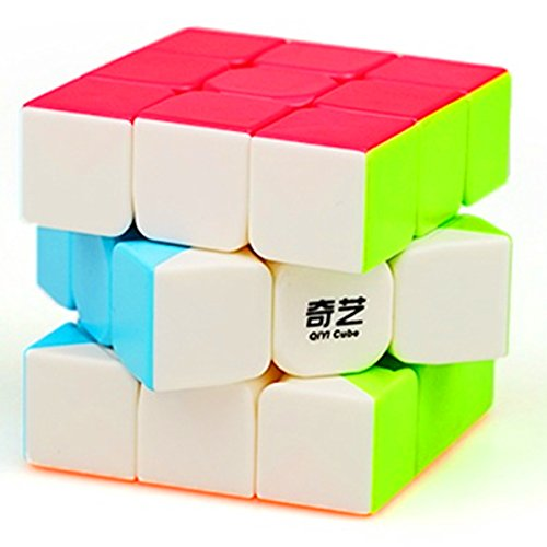 CuberSpeed QiYi Warrior W 3x3 Stickerless Speed Cube Puzzle Warrior W 3x3x3 Stickerless Cube