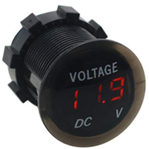 zhongqingshiKelly Poe 12V-24V LED Display Digital Voltmeter Spannungsmesser für Auto Motorrad Auto LKW Boot Marine(red)