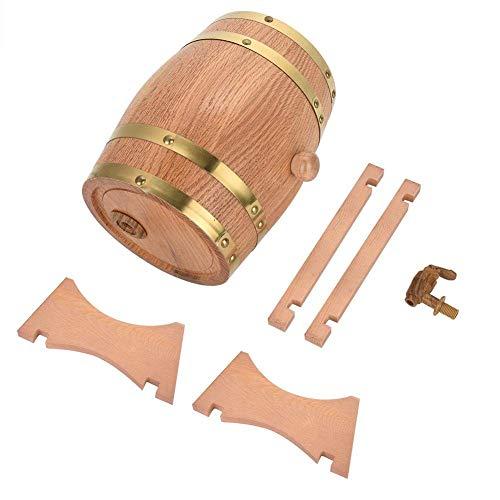 Barriles de madera Nimoa - Dispensador de barriles de madera maciza de roble viejo de 3 litros para almacenar whisky-bour-bon-tequila