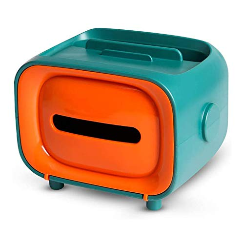 OVBBESS Caja de pañuelos multifuncional, caja de almacenamiento de pañuelos de escritorio para sala de estar/cocina/decoración de oficina