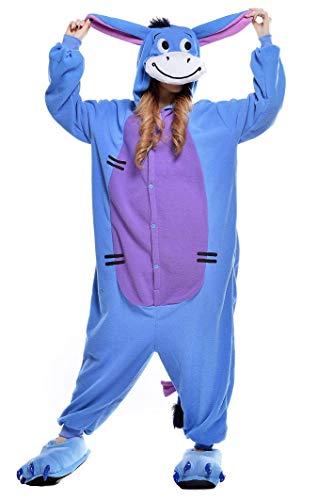 Costume de carnaval avec cagoule pyjama animal...
