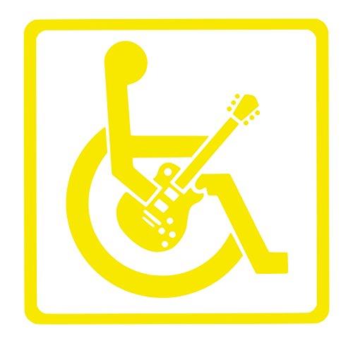 【全16色】車椅子マーク/車イス サイン/カー ステッカー/Car/ギター/1/車用/シール/ Vinyl/Decal /バイナル/デカール/-1 (黄色) [並行輸入品]