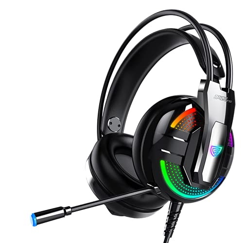 coconut Enigma GH1 Wired Over the Ear Headphone with Mic (Black)