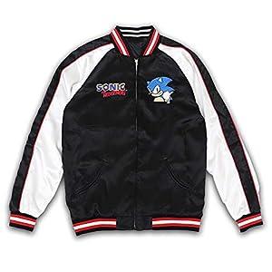 SONIC THE HEDGEHOG Speed Star スカジャン ブラック/ホワイト Mサイズ