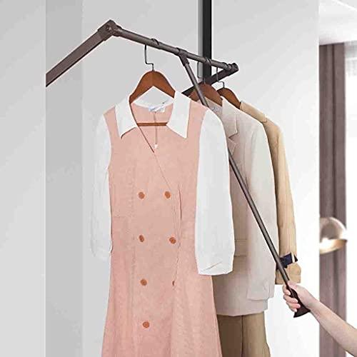 Klädställ Garderob Lyft Klädstångsutrymme Spara, Dra ner Garderob Klädstång Mjuk retur, Justerbar Bredd 52-122cm Skåpstång (Size : (670-900mm)×840mm)