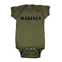 Mashed Clothing Baby Boys' Marines Military Green Baby Bodysuit Photo for Practical Parents in Training Blog