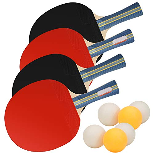 Fantastic Prices! CNSSKJ Table Tennis Racket -Soft Bouncy -Sponge Ergonomic Grip- Portable Storage C...