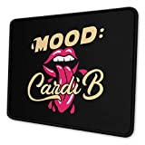 NOT Cardi B Mousepad Non-Slip Rubber Gaming Mouse Pad Rectangle Mouse Pad7 X 8.6 in