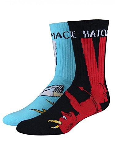 Toy Machine Robot Socks - Calcetines para hombre Bury The Hatchet -...