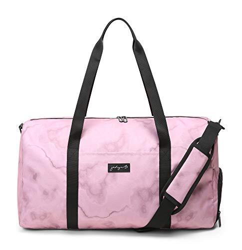 Jadyn B Weekender Bag - 56 cm./22 inch - 52L - Duffel Bag with Shoe Pocket (Marble Pink)