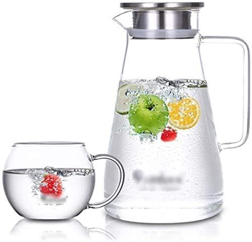 GHJA Taza Taza Jarra de Vidrio Helado Reutilizable Ideal para té Helado Café Leche y Jugo Botellas Taza de té (Tamaño: 13,1 y Tiempos; 23 y Tiempos; 7,6 cm)