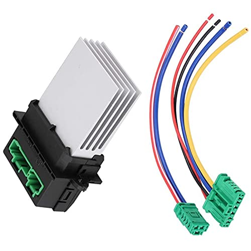 Resistencia del motor del ventilador, enchufes de cableado, juego de cables de conexión de la resistencia del ventilador del ventilador automático, resistencia del ventilador del ventilador del motor