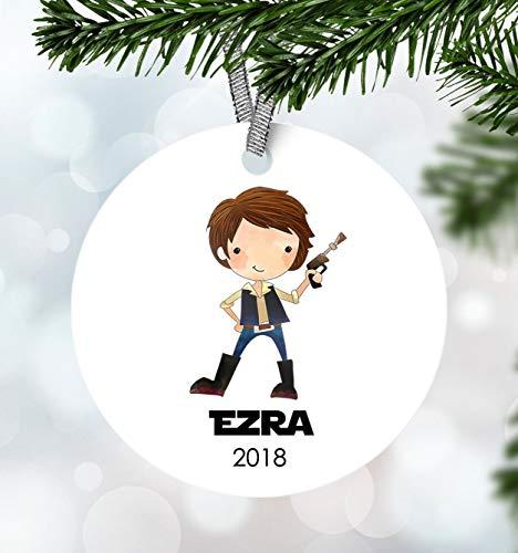 prz0vprz0v Kids Christmas Ornament Boy Ornament Starwars Ornament First Christmas Ornament Personalized Christmas Ornament Kids Han Solo Ornament Keepsake Gift