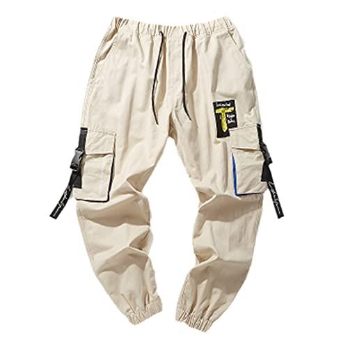 GYSAFJ Pantalones deportivos para hombre para pantalones de correr casuales pantalones de jogging pantalones de bolsillo, Caqui, 6X-Large