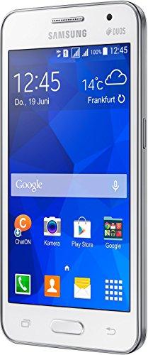 Samsung Galaxy Core 2 Duos Smartphone (11,4 cm (4,5 Zoll), 1,2GHz Quad-Core Prozessor, 5 Megapixel Kamera, 0,3 Megapixel Frontkamera, Touchscreen, Android) weiß