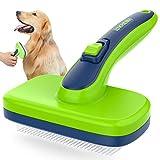Iokheira Hundebürste & Bürste Hund für Langhaar Kurzhaar, selbstreinigende Hundebürste, Katzenbürste, für der Toten Unterwolle und der losen Haare, geeignet für mittel und Langhaar Hunde, Katzen