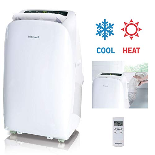 Honeywell, White HL14CHESWW Portable Air Conditioner with Heat Pump, Fan & Dehumidifier with...