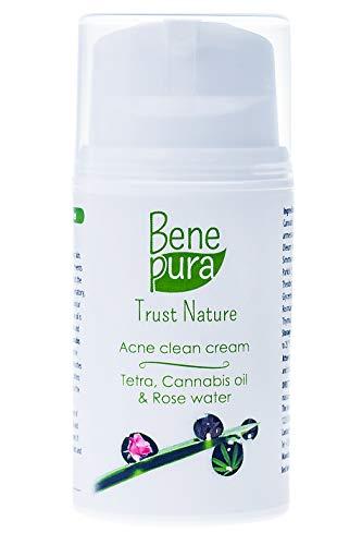BenePura Acnébehandeling 50ml – de Perfecte Verzorging voor een Vette Acné-gevoelige Huid met Puistjes, Vlekjes en Vergrote Poriën - Verrijkt met Natuurlijke Oliën, Rozenwater en Vitamines C & E – de Controle voor een te Hoge Talgproductie