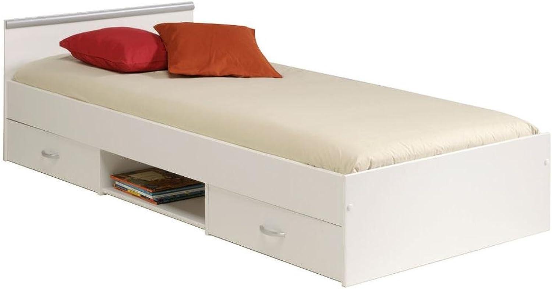 Stauraumbett wei Jugendzimmer Bett Parisot 2038 - L2TI Mega 1.1 wei 90x200