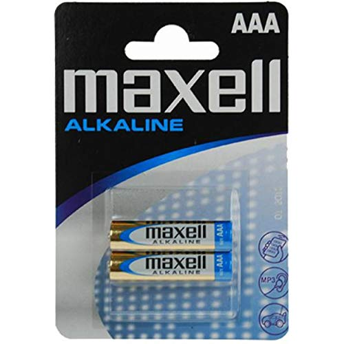 Maxell 723920.04.CN Alkaline Batterie, Micro AAA, 2er Blister