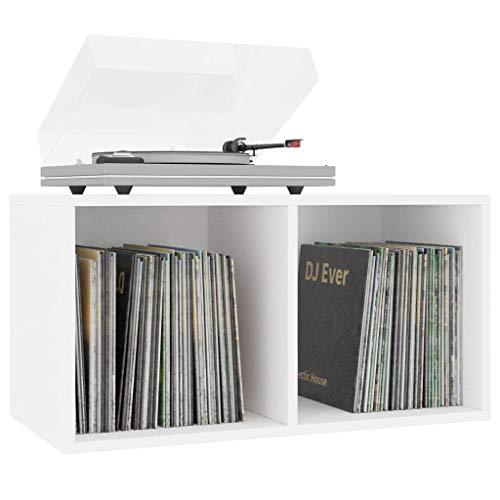 Tidyard Schallplatten-Aufbewahrungsbox Aufbewahrung Ordnerregal Aktenschrank Mit 2 Fächern,Aufbewahrungsfach Sideboard Kissenbox 71 x 34 x 36 cm,Robuste Rückseite zum richtigen Schutz der LPs