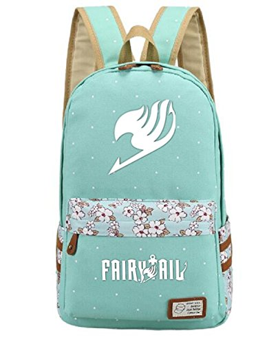 YOYOSHome Luminous Japanese Anime Cartoon Cosplay Bookbag College Bag Backpack School Bag (Fairy Tail)