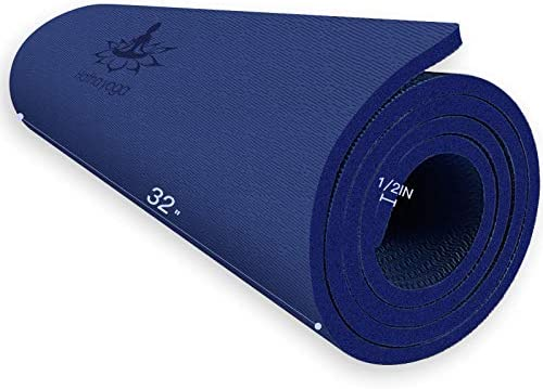 Hatha Yoga Extra Thick TPE Yoga Mat 72 x 32 Thickness 1 2 Inch Eco Friendly SGS Certified With product image