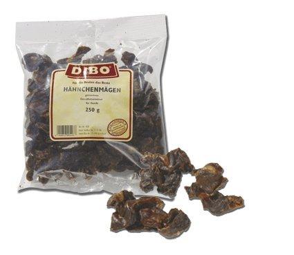 DIBO Hähnchenmägen, 250g-Beutel, der kleine Naturkau-Snack oder Leckerli für Zwischendurch, Hundefutter, Qualitätskauartikel ohne Chemie