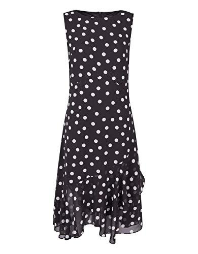 Bexleys Woman by Adler Mode Damen 1 TLG. Kleid schwarz/weiß 44