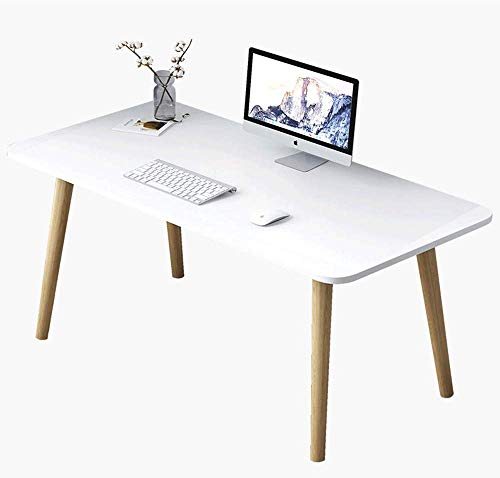 Liabb Escritorio nordico Moderno Mesa de computadora Mesa de PC Mesa de Madera Mesa de computadora Mesa de Trabajo Mesa de cafe Mesa de conferencias Escritorio oficina-80x40x73cm Blanco