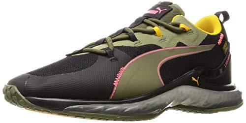 PUMA Herren LQDCELL Hydra FM Camo Sneaker, Burnt Olive Black-Ignite Pink, 44.5 EU
