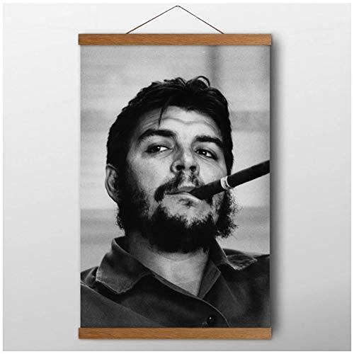 wzgsffs Massivholzrollen Gemälde Che Guevara Promi Poster Poster und Drucke Leinwand Wandkunst Raumdekor