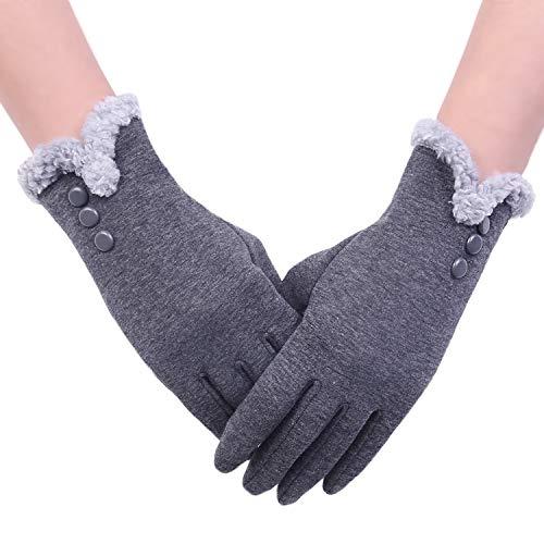 Aibrou Guantes Invierno Mujer Tactiles Pantalla Guantes y manoplas, Una Talla