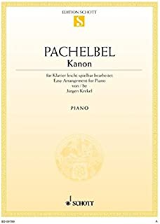 CANON PIANO: für Klavier leicht spielbar bearbeitet. Klavier. Einzelausgabe.