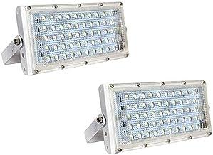 DesiDiya New High Power led 50watt LED watt Ultra Thin Slim IP66 IP6667/50 LED Flood Outdoor Light Cool White Waterproof (Pack of 2)