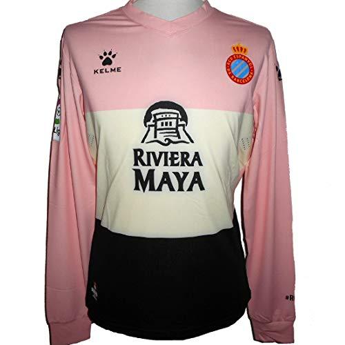 KELME Espanyol RCD Home 3A Equipacio Futbol Camiseta 2019-2020 (Large)